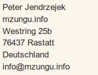 Verantwortlich auch mzungu.info